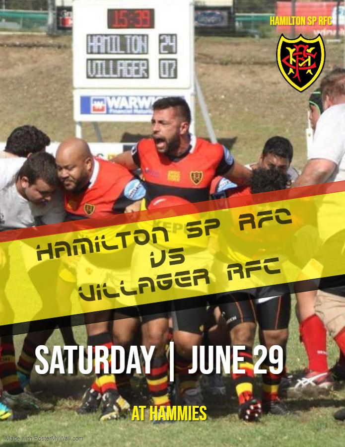 Hammies vs Villager RFC: 29 June 2019
